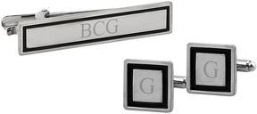 Asstd National Brand Personalized Tie Bar & Cuff Links Set