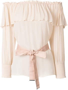 Pinko Becky off-the-shoulder blouse