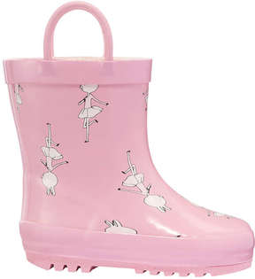 Joe Fresh Baby Girls' Rubber Boots, Pink (Size 4)