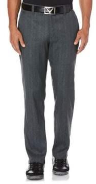 Callaway Opti-Stretch Printed Herringbone Golf Pants with Active Waistband