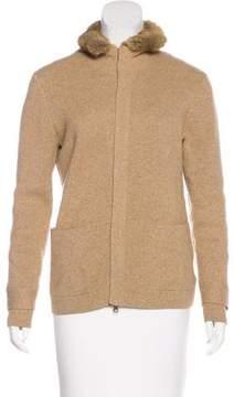 Brooks Brothers Wool Fur-Trimmed Jacket