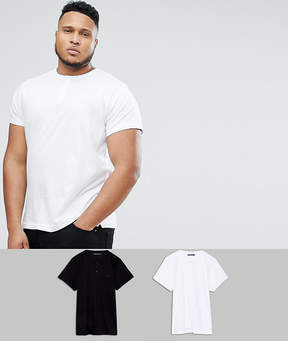 French Connection PLUS 2 Pack Henley T-Shirt