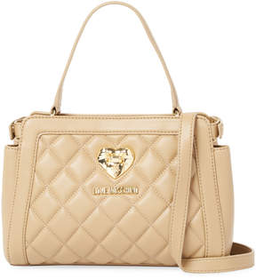 Love Moschino Women's BAG NAPPA PU QUILTED SAND