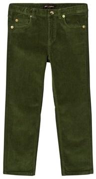 Mini Rodini Dark Green Corduroy Tiger Fit Trousers