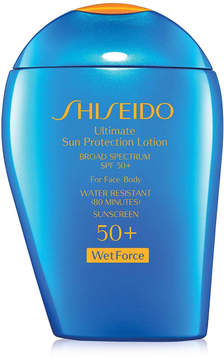Shiseido Ultimate Sun Protection Lotion Broad Spectrum SPF 50+ WetForce