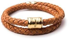 Miansai Leather Casing Bracelet in London Tan