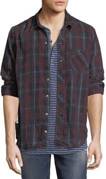 Hudson Weston Plaid Distressed Shirt