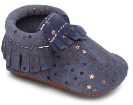 Freshly Picked Infant Girl's Starry Sky Moccasin
