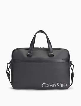 Calvin Klein coated canvas slim laptop bag