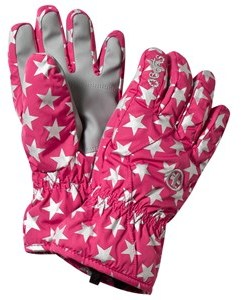 Barts Pink Star Print Ski Gloves