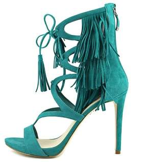 GUESS Womens Abria Open Toe Casual Ankle Strap Sandals Suede