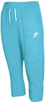 Nike Big Girls' (7-16) Gym Vintage Casual Capris-Blue-Small
