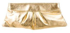 Lauren Merkin Metallic Leather Clutch