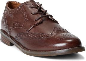 Ralph Lauren Big Kid Leather Wing-Tip Oxford Shoe