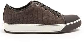 Lanvin Low-top embossed-leather trainers