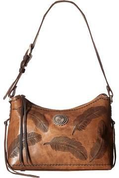 American West Sacred Bird Zip Top Shoulder Bag Shoulder Handbags