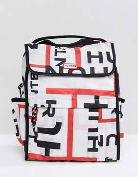 Hunter Foldable Backpack in Logo Print