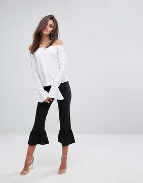 Fashion Union Frill Hem Pants