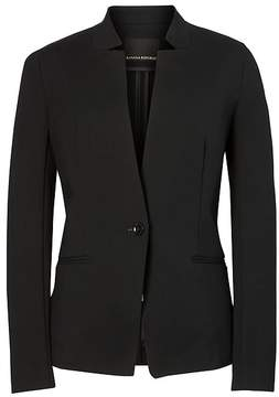 Banana Republic Long and Lean-Fit Inverted Collar Ponte Blazer
