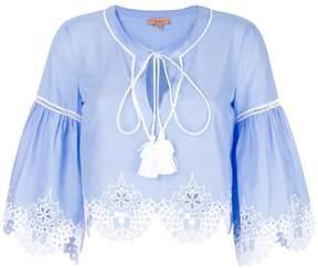 Ermanno Scervino embroidered hem blouse