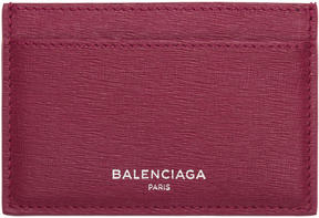 Balenciaga Pink Essential Single Card Holder