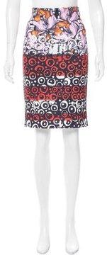 Clover Canyon Neoprene Printed Skirt