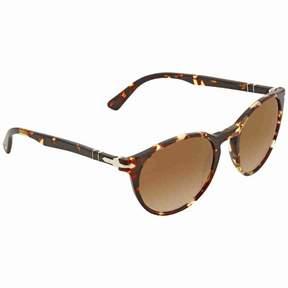Persol Clear Gradient Brown Round Sunglasses PO3152S 904051 52
