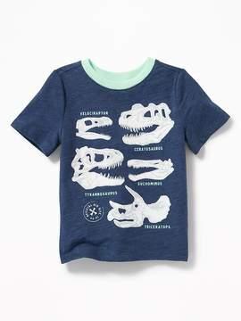 Old Navy Dinosuar-Skull Graphic Tee for Toddler Boys