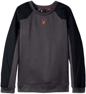 Spyder Hybrid Pullover Top Boy's Long Sleeve Pullover