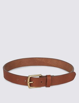 Marks and Spencer Kids' Leather Square Buckle Belt