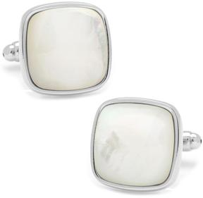 Ice Mother of Pearl Cushion Cufflinks