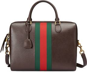 Webby leather briefcase