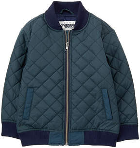 Gymboree Blue Quilted Bomber Jacket - Toddler & Boys
