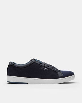 Ted Baker Geo print leather trim sneakers