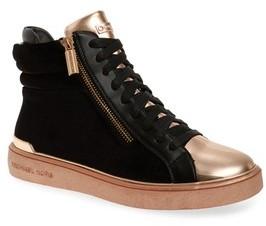 MICHAEL Michael Kors Girl's Ivy Blue High Top Sneaker