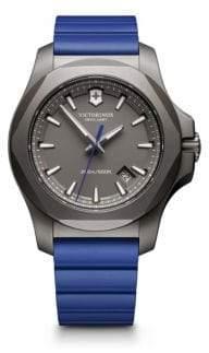 Victorinox Rubber Inox Sandblasted Titanium Professional Strap Watch