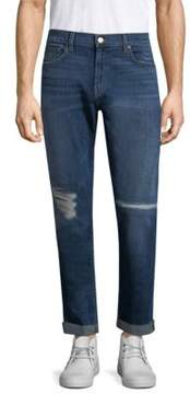 J Brand Tyler Tapered Distressed Jeans