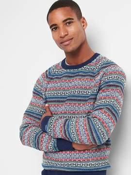 Gap Fair Isle crewneck sweater