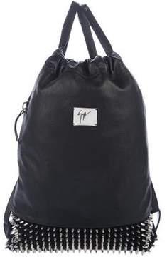 Giuseppe Zanotti Embellished Leather Backpack