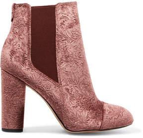 Sam Edelman Case Embossed Velvet Ankle Boots - Blush
