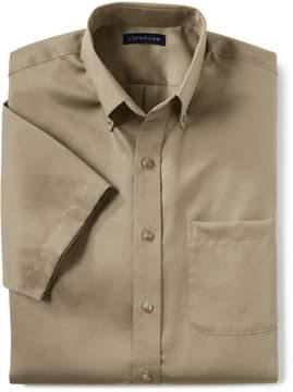 Lands' End Lands'end Men's Big Short Sleeve Performance Twill Shirt