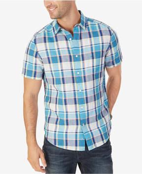 Nautica Men's Classic-Fit Linen-Blend Plaid Shirt