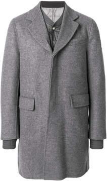Moncler Gamme Bleu layered single-breasted coat
