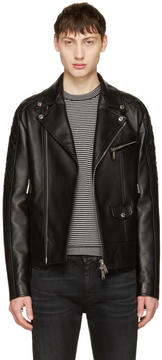 DSQUARED2 Black Classic Leather Jacket