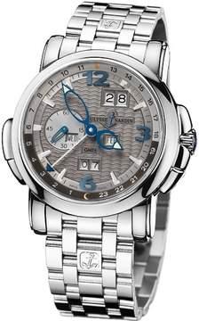 Ulysse Nardin GMT Perpetual Grey Dial 18kt White Gold Men's Watch 320-60-8-69