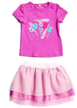 GUESS T-Shirt & Tulle Skirt Set (0-24M)