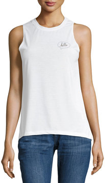 David Lerner Hello-Graphic Muscle Tee