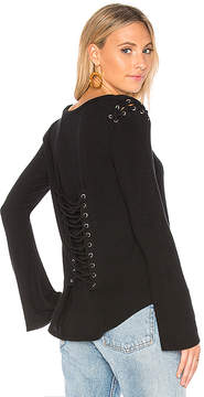 Generation Love Casey Lace Up Top