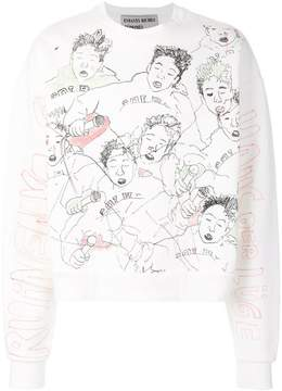 Enfants Riches Deprimes sketch print sweatshirt