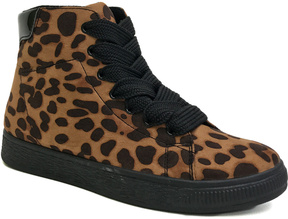 Bamboo Tan Leopard Smitty Hi-Top Sneaker